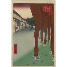 歌川広重: Naitô Shinjuku, Yotsuya (Yotsuya Naitô Shinjuku), from the series One Hundred Famous Views of Edo (Meisho Edo hyakkei) - ボストン美術館