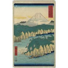 歌川広重: Lake at Hakone (Hakone no kosui), from the series Thirty-six Views of Mount Fuji (Fuji sanjûrokkei) - ボストン美術館