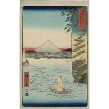 歌川広重: Honmoku Point in Musashi Province (Musashi Honmoku no hana), from the series Thirty-six Views of Mount Fuji (Fuji sanjûrokkei) - ボストン美術館