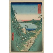 Utagawa Hiroshige: Shiojiri Pass in Shinano Province (Shinano Shiojiri tôge) , from the series Thirty-six Views of Mount Fuji (Fuji sanjûrokkei) - Museum of Fine Arts