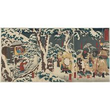 Utagawa Kuniyoshi: Tsûzoku Sangokushi no uchi, Gentoku mitabi setchû ni... - Museum of Fine Arts