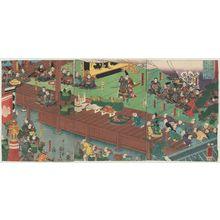 歌川国芳: The Assembly of Ashikaga Takauji (Ashikaga Takauji hyôjô no zu) - ボストン美術館