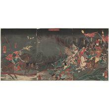 Utagawa Kuniyoshi: The Great Battle between Kai Province and Echigo Province at Kawanakajima (Kôetsu Kawanakajima ôgassen) - Museum of Fine Arts