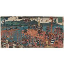 Utagawa Kuniyoshi: (Taiheiki Tenryûgawa no ukihashi [no] zu) - Museum of Fine Arts