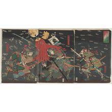 歌川国芳: Last Stand of the Kusunoki at Shijô-nawate - ボストン美術館