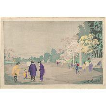 Kobayashi Kiyochika: Sketching in Ueno Park - Museum of Fine Arts