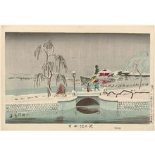 Kobayashi Kiyochika: Benten Shrine at Ikenohata (Ikenohata Benten) - Museum of Fine Arts