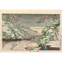 Kobayashi Kiyochika: Snow at Ochanomizu (Chanomizu yuki) - Museum of Fine Arts