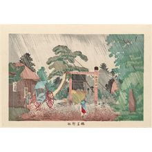 小林清親: Umewaka Shrine (Umewaka jinja) - ボストン美術館