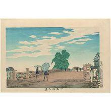 小林清親: Evening View of Ikkoku Bridge (Ikkoku-bashi yûkei) - ボストン美術館