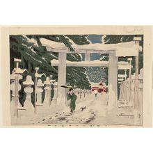 Kobayashi Kiyochika: Heavy Snow at the Tôshôgû Shrine in Ueno (Ueno Tôshôgû sekisetsu no zu) - Museum of Fine Arts