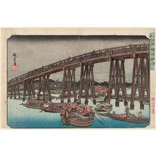 歌川広重: Enjoying the Evening Cool at Ryôgoku Bridge (Ryôgoku-bashi nôryô), from the series Famous Places in Edo (Kôto meisho) - ボストン美術館
