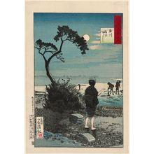 小林清親: Bleaching Cloth at the Jewel River (Tamagawa nunosarashi), from the series One Hundred Views of Musashi Province (Musashi hyakkei no uchi) - ボストン美術館