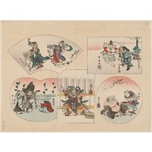 Utagawa Kuniyoshi: The Seven Gods of Good Fortune (Shichifukujin) - Museum of Fine Arts