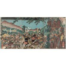 歌川芳員: The Great Battle of Ehi (Ehi ôgassen) - ボストン美術館