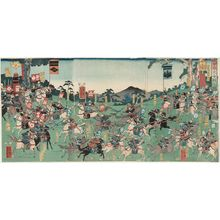 Utagawa Yoshikazu: Great Battle between Kai and Echigo Provinces (Kô-Etsu ôgassen no zu) - Museum of Fine Arts