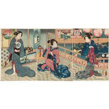 歌川房種: Bifujin awase - ボストン美術館