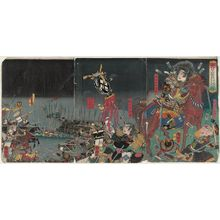 Utagawa Kuniteru: The Death in Battle of Katsuyori on Mount Tenmoku (Tenmokuzan Katsuyori uchijini no zu) - Museum of Fine Arts