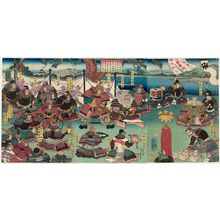 Utagawa Yoshikazu: In the first month of 1184... (Juei sannen shôgatsu Kiso... ) - Museum of Fine Arts