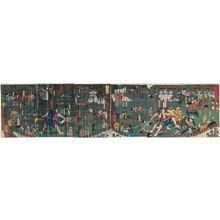 Utagawa Yoshikazu: Soga brothers - Museum of Fine Arts