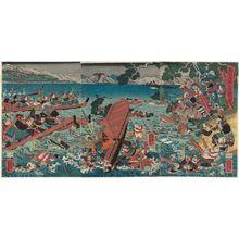 Utagawa Yoshikazu: Ôshû Takadachi... - Museum of Fine Arts