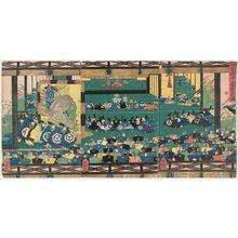 Utagawa Yoshitsuya: Offering Congratulations at the Kamakura Palace (Kamakura denchû keiga no zu) - Museum of Fine Arts