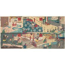 歌川芳艶: A Comical Shuihuzhuan (Dôke Suikoden) - ボストン美術館