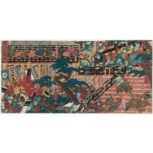 Utagawa Yoshitsuya: The Great Battle at Horikawa (Horikawa ôgassen zu) - Museum of Fine Arts