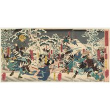 歌川芳艶: The Night Attack of the Faithful Samurai (Gishi youchi zu) - ボストン美術館