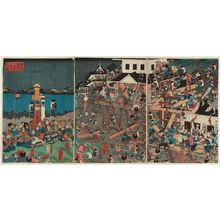 Yoshifuji: Kusunoki Masashige Builds a Castle at Chihayakutsu on Mount Kongô - Museum of Fine Arts