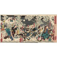 歌川芳艶: The Night Attack of the Faithful Samurai (Gishi youchi zu) - ボストン美術館