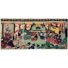 歌川芳艶: Offering Congratulations at the Kamakura Palace (Kamakura goten keiga no zu) - ボストン美術館