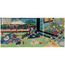 Utagawa Yoshitsuya: The Adulthood Ceremony of Kaidômaru (Kaidômaru genpuku no zu) - Museum of Fine Arts