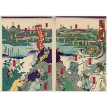 芳藤: Seven Miraculous Stories of Northern Echizen Province (Hokuetsu shichi kidan) - ボストン美術館