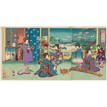 Watanabe Nobukazu: Musical Competition of Beauties (Kajin ongyoku kurabe) - Museum of Fine Arts