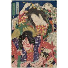 豊原国周: Actors Ôtani Shodô and Kawarazaki Sanjô (R to L) - ボストン美術館