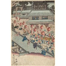 Utagawa Sadahide: Shrine Festival - Museum of Fine Arts