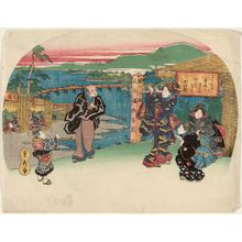 Utagawa Sadahide: Tea Shop at Uji - Museum of Fine Arts