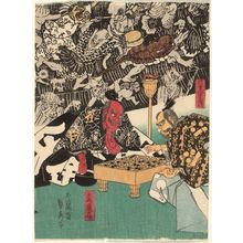 Utagawa Sadahide: The Earth Spider (Tsuchigumo) - Museum of Fine Arts