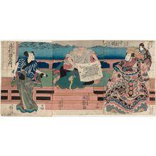 歌川国芳: Actors Nakamura Utaemon (R), Seki Sanjûrô (C), and Ichimura Uemon (L) - ボストン美術館