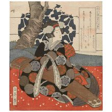 屋島岳亭: Woman with Gagaku Instrument, from the series Pentaptych for the Hisakataya Poetry Club (Hisakataya gobantsuzuki) - ボストン美術館