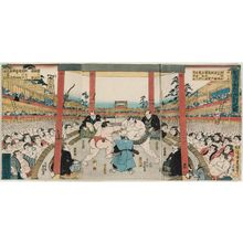 Utagawa Kunisada: Performance of Sumô Fund-raising Tournament (Kanjin ôzumô kôgyô no zu) - Museum of Fine Arts
