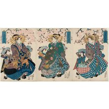 Teisai Senchô: of the Owariya, from an untitled series of courtesans under cherry blossoms - Museum of Fine Arts
