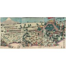 Utagawa Sadahide: The Hunt at the Foot of Mount Fuji (Fuji no susono makigari no zu) - Museum of Fine Arts