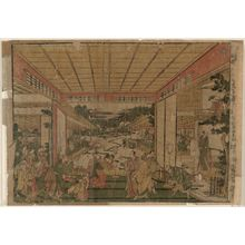 Kitao Masayoshi: Act VII (Shichidanme), from the series Perspective Pictures of the Storehouse of Loyal Retainers, a Primer (Uki-e Kanadehon Chûshingura) - Museum of Fine Arts