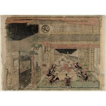 北尾政美: Act X (Jûdanme), from the series Perspective Pictures of the Storehouse of Loyal Retainers, a Primer (Uki-e Kanadehon Chûshingura) - ボストン美術館