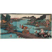 Utagawa Yoshitora: A Battle from the Taiheiki (Taiheiki kassen no zu) - Museum of Fine Arts