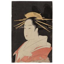 Chokosai Eisho: Hanaôgi of the Ôgiya, from the series Contest of Beauties of the Pleasure Quarters (Kakuchû bijin kurabe) - Museum of Fine Arts