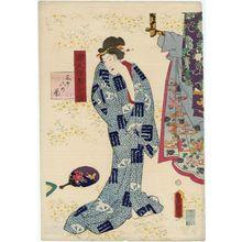 Utagawa Kunisada: Ch. 38, Suzumushi, from the series Lingering Sentiments of a Late Collection of Genji (Genji goshû yojô) [pun on The Fifty-four Chapters of the Tale of Genji (Genji gojûyojô)] - Museum of Fine Arts