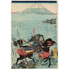 Utagawa Yoshitora: Yamamoto Kansuke at the Battle of Kawanakajima - Museum of Fine Arts
